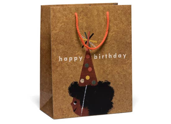 Afro Birthday Bag by Red Cap Cards