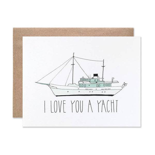 Love You A Yacht Card by Hartland Brooklyn