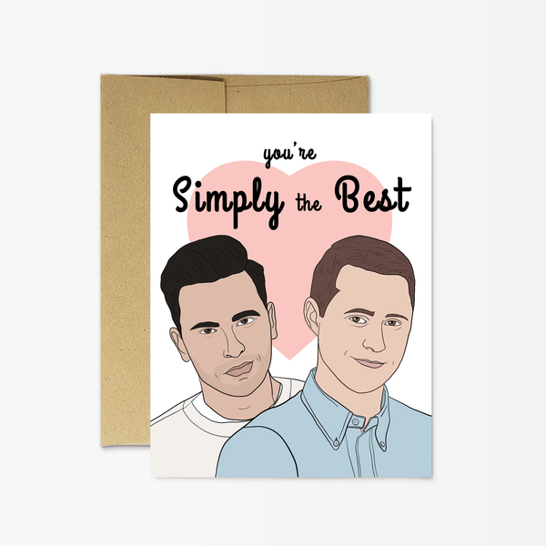 "Schitt's Creek ""Simply the Best"" Card by Party Mountain Paper"