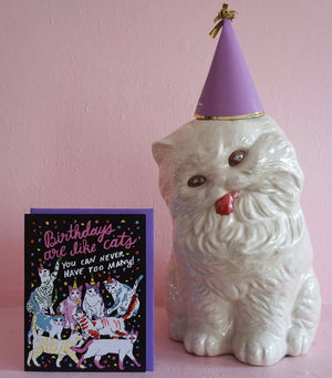 Birthday Cats Card by Ash + Chess