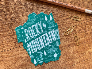 Rocky Mountain National Park Sticker by Noteworthy Paper & Press