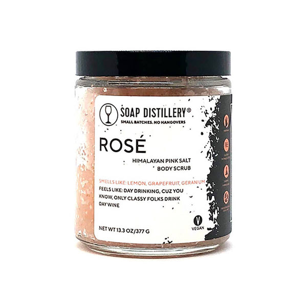 Rosé Body Scrub (Himalayan Pink Salt) by Soap Distillery