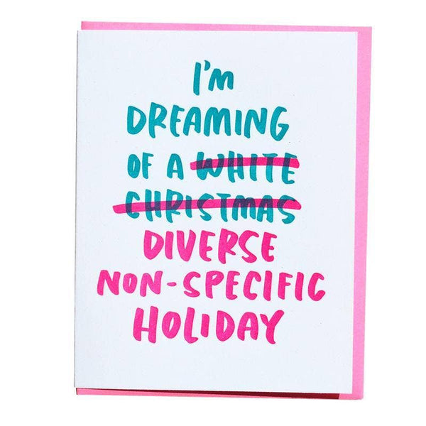 White Christmas Holiday Card by And Here We Are