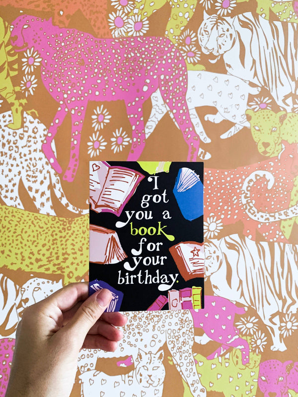 Birthday Book Card by Ash + Chess