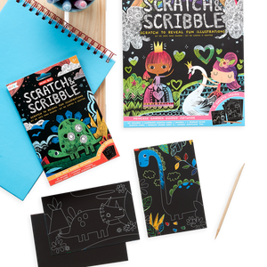 Mini Scratch & Scribble Art Kit: Dino. Days