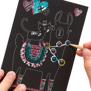 Mini Scratch & Scribble Art Kit: Funtastic Friends