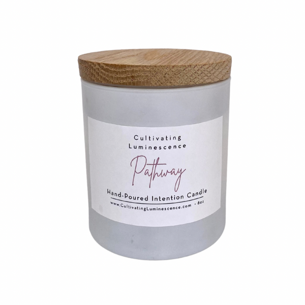 Pathway Candle with Amethyst by Cultivating Luminescence