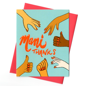 Mani Thanks! Thank You Card by Rhino Parade