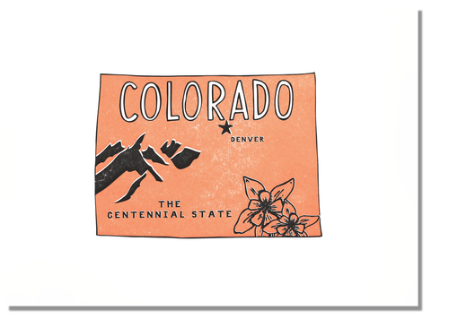 Colorado State Print: The Centennial State