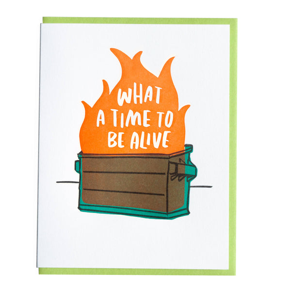 Dumpster Fire Card by And Here We Are