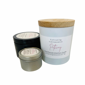 Travel Sized, Ascension Candle with Rose Quartz by Cultivating Luminescence