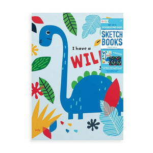 Dino. Days set of 2 Doodle Pad Sketchbooks by Ooly