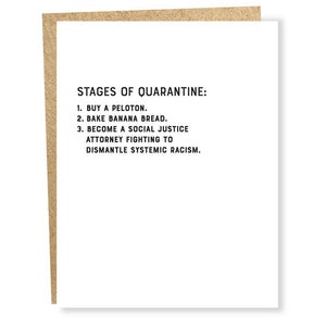 Stages of Quarantine Card by Sapling Press