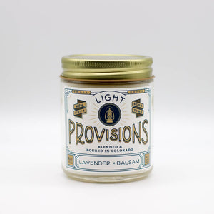 Light Provisions - 8 oz Lavender + Balsam candle