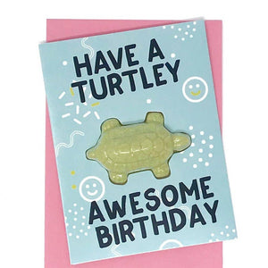 Have a Turtley Awesome Birthday Bath Card by Feeling Smitten -