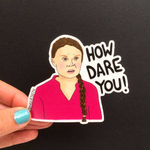 Bangs & Teeth - Greta Thunberg Sticker, vinyl sticker, laptop sticker