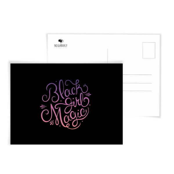 Black Girl Magic Postcard by Neighborly Paper