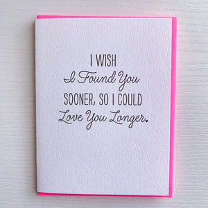 Found You Sooner Card by DeLuce Design