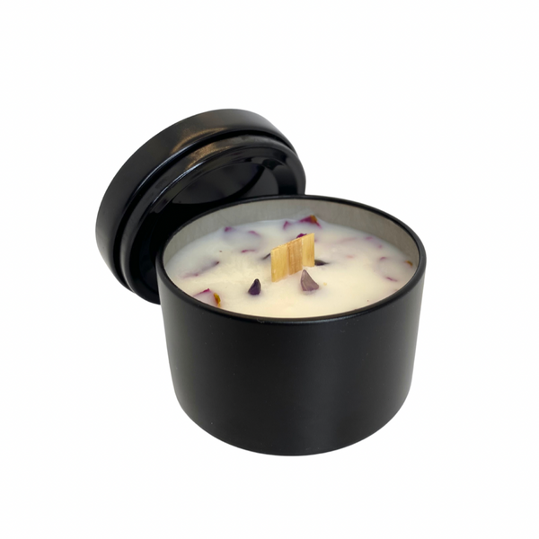 4 oz, Pathway Candle with Amethyst by Cultivating Luminescence
