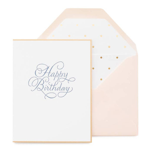 Traditional Happy Birthday Card by Sugar Paper
