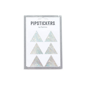 Silver Holographic Triangles by Pipsticks