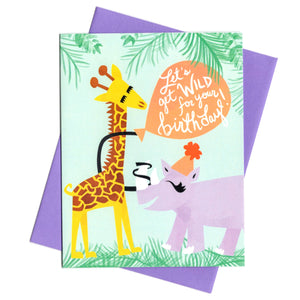 Let's Get Wild For Your Birthday Card by Rhino Parade