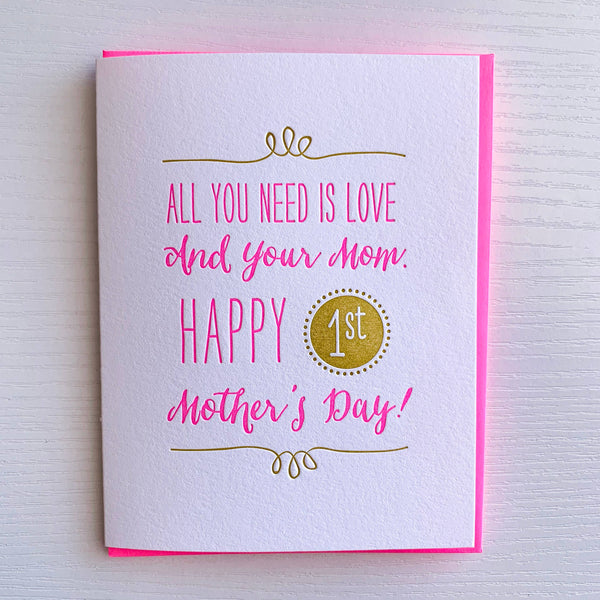 First Mother's Day Card by DeLuce Design