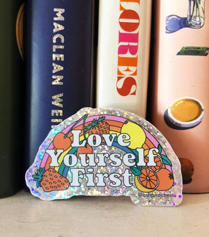Love Yourself First Sticker by Ash + Chess