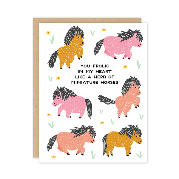 Miniature Horses Card by Party of One
