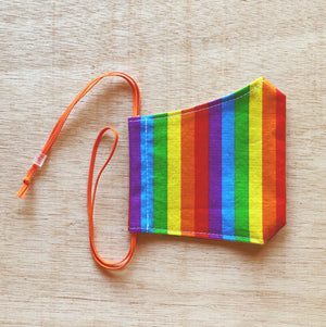 Kids Cotton Mask Rainbow Pride by So Gingerly