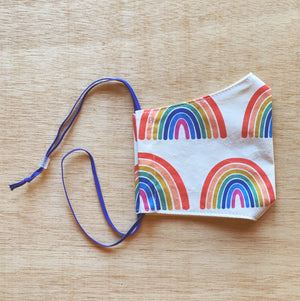 Kids Cotton Mask Rainbows by So Gingerly
