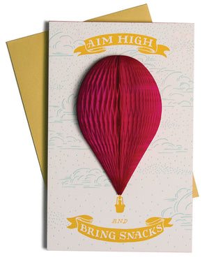 Aim High Hot Air Balloon Card
