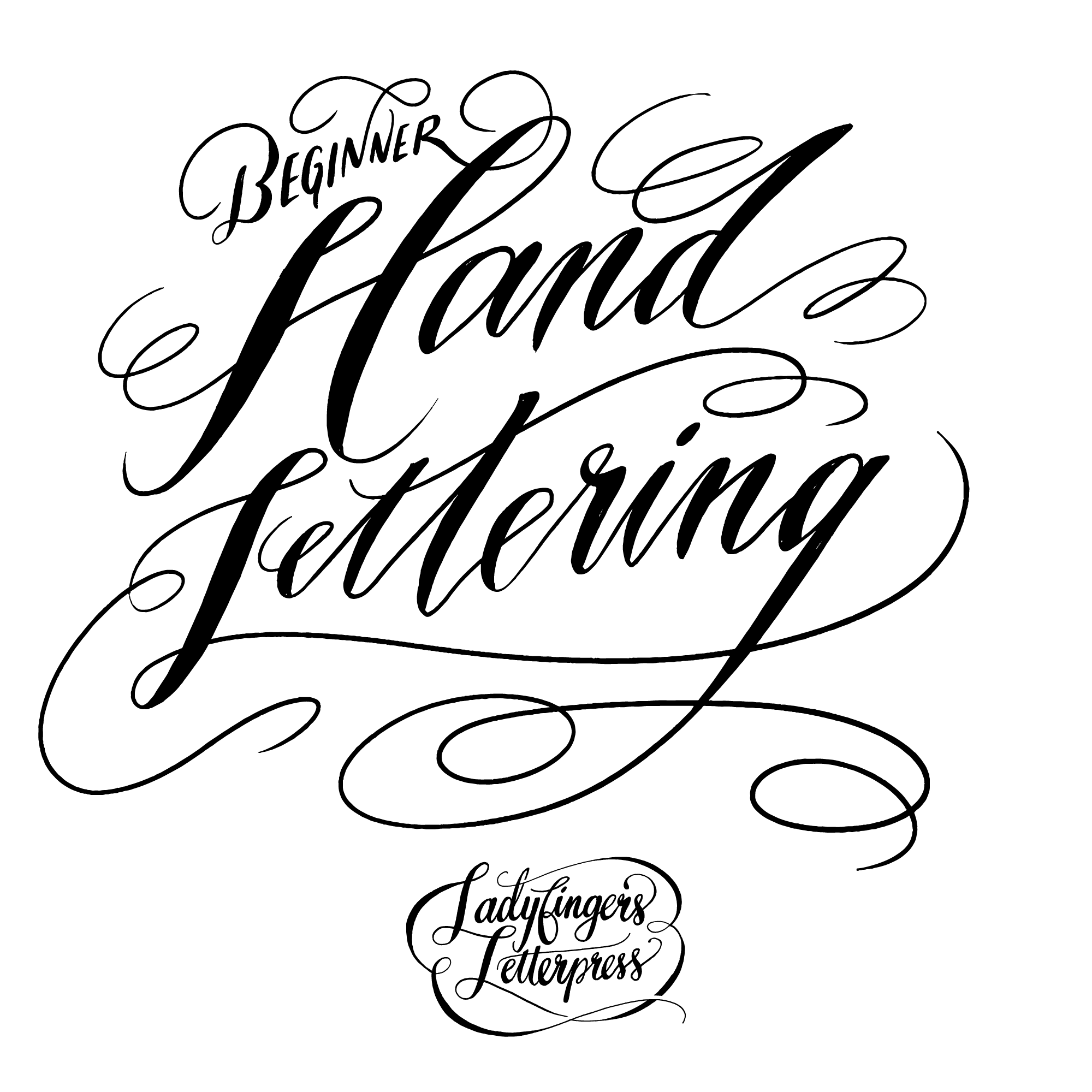 hand lettering for beginners october 2018 workshop ladyfingers