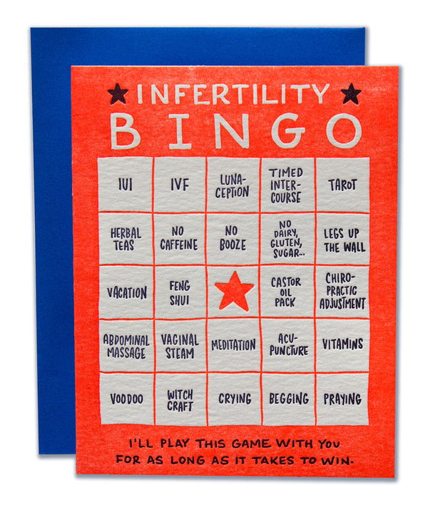 Infertility Bingo