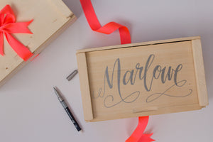 Add Hand-Lettered Personalization to Your Gift Box!
