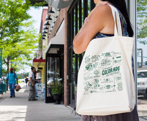Colorful Colorado Springs Tote Bag