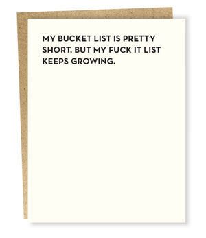 Bucket List Card by Sapling Press