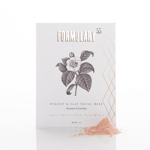 FACE MASK BOTANICAL TREATMENT - ROSEHIP & CLAY