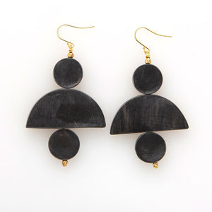 Black Shapes Earring