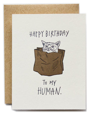 Happy Birthday To My Human - Cat Version