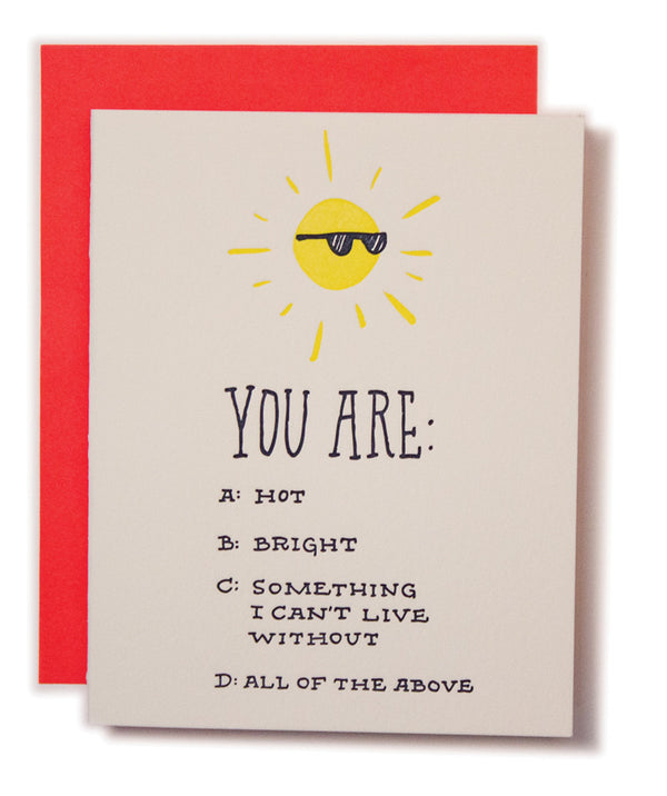 Hot Bright Sun Card