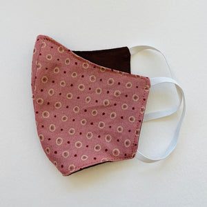 Child Elastic Ear Face Mask - Red Dots
