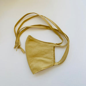 Adjustable Tie Face Mask - Sand