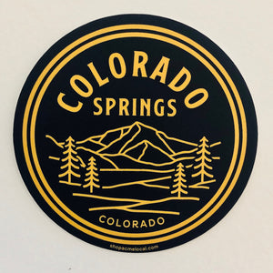 Colorado Front Range Sticker - Navy
