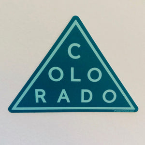 Triangle Blue Sticker