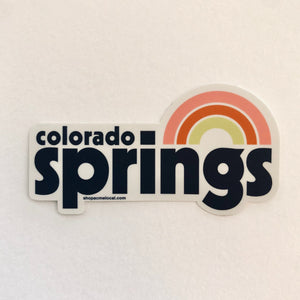 Colorado Springs Rainbow Sticker