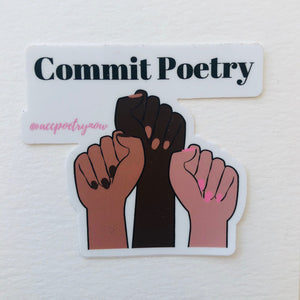 Commit Poetry Sticker by Ashley Cornelius