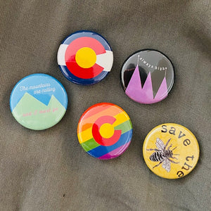 5 Pack of Colorado Pins by Beedle Button Stitch