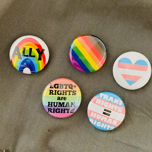 5 Pack of LGBTQ Pins by Beedle Button Stitch