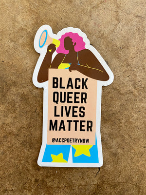 Black Queer Lives Matter Magnet by Ashley Cornelius